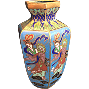 Beautifully Crafted and Painted Japanese Cloisonne Bud Vase Circa 1960's