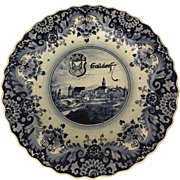Large 18th Century Delft Blue & White Handgemalt Plate