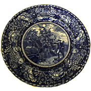 English Staffordshire Commemorative Plate