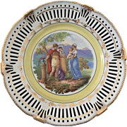 19th Century Pair of Dresden Style Porcelain Charger Plates Signed Angelica Kaufmann 1774