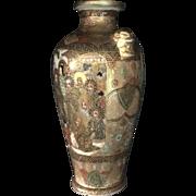 19th Century Meiji imperial Satsuma Pottery Vase