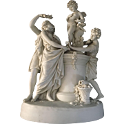 Central European Bisque Carved Neoclassical Art Sculpture