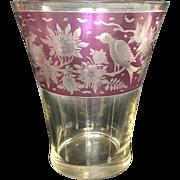 Late 18th Century Egermann purple to clear cut Art Glass Vase