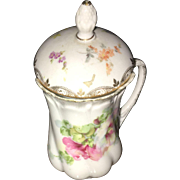 19th Century R&S Prussia Hand painted Sugar Bowl