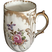 19th Century Hand painted Dresden Serving Cup
