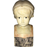 19th Century European Marble Bust of Early Colonial Settler