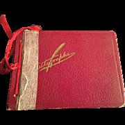 Americana Autograph Memory Book for a Dramatics Teacher Circa 1938