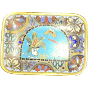 Late 19th Century Asian Cloisonne Hand Crafted and Designed Miniature Tray