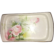 Early 20th Century Transfer MZ Altrohlau Czech Soap Dish Signed and Numbered