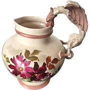 19th Century Royal Worcester Hand Painted Ewer with Dragon Handle