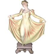 Early 20th Century Art Deco style Hand Painted Bisque Ballerina