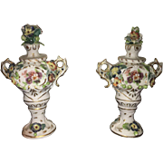 19th Century Set of Royal Vienna Figurative Urns