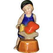 Early 20th Century Art Deco Style  Miniature Figurine of Young Boy