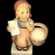 Post World War II Large  M.J. Hummel Figurine Little Red Riding Hood