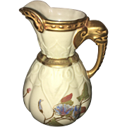 Late 19th Century Royal Worcester Hand Painted  Ewer