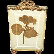 20th Century Art Deco style La Paris Studio Silk Portrait Framed in Guided Bronze