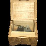 Swiss Wooden Mapsa Music Box Circa 1950