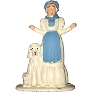 Americana Collectible Figurine Old Mother Hubbard By Tommy Toys Circa 1933
