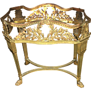 19th Century Hand Carved French Miniature Bronze Table