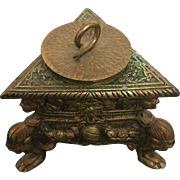 Mid Century Italian Rococo Style Hand Carved Bronze Candle-holder