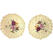 Early 19th Century Victoria Carlsbad Hand Painted Decorative Charger Plates