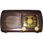 Early American Brown Bakelite Zenith Am Radio Circa 1941