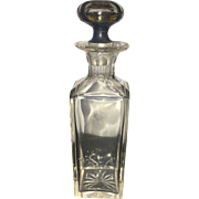 19th Century Clear Miniature English Whiskey Decanter