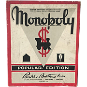 Original Game accessories to 1952 Monopoly by Parker Brothers