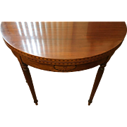19th Century French Walnut inlaid Game Table