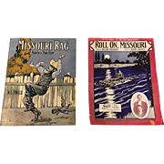 A Pair of World War One Era  American Sheet Music Song Books