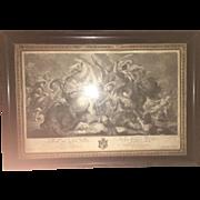18th Century Rubens Revival  Lithograph Roman Crusaders War