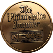 Vintage Commemorative Coin minted for the Philadelphia Inquirer Printing Plant Circa 1992