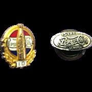 Vintage Pepsi Cola Commemorative Decorative Service Pins