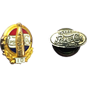 Vintage Pepsi Cola Commemorative Decorative Service Pins