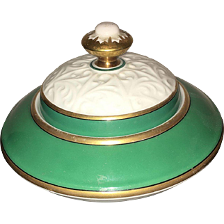 Early 20th Century Jacob Hertel Bavaria Germany Hand Painted Candy Dish