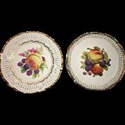 Pair of German Schwartzenhammer Porcelain Wall Charger Plates Circa 1951
