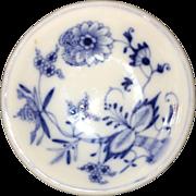 20th Century Blue Onion Pattern Meissen Salt Dish