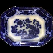 Early 19th Century English Flow Blue Casserole Dish