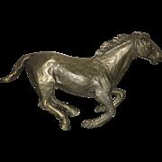 Mid Century  French Bronze Unmounted Stallion Figure