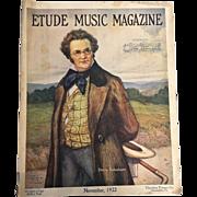 Early American Etude Music Magazine November 1922 Franz Schubert Cameo Issue Otto Nowak Drawing