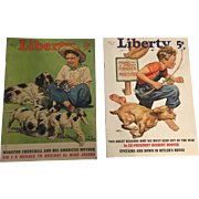 Vintage twin issues June 1940 Liberty Magazines