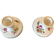 English  pair of Royal Worcester Candlestick Holders Circa 1974