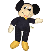 Vintage Knickerbocker Plush Walt Disney Productions Mickey Mouse Doll