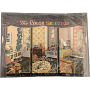 W.H. wise Company Advertising Color Decorator Selector circa 1947