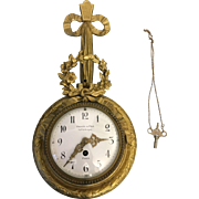 French Bagues & Fils Parisian Bronze Cartel Wall Clock