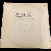 Vintage 1971 Vinyl LP Mothers Fillmore East by Reprise Records