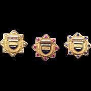 Three Vintage Greyhound Service Hat Pins awarded to Tenured Vehicle Operators