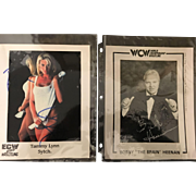 Three Vintage Autographed Photographs of Wrestling Icons Circa 1970-1990