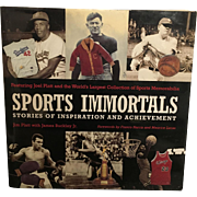 Vintage American Hard Cover  Sports Immortals