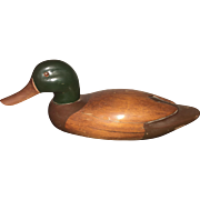 Early American Hand Carved and Painted Duck Decoy